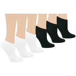Capelli Big Girls 6-pk. Solid No Show Socks