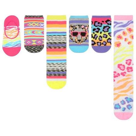 Capelli Little Girls 6-pk. Animals Variety Socks