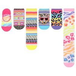 New! Capelli Girls 6-pk. Wild Animals Variety Socks