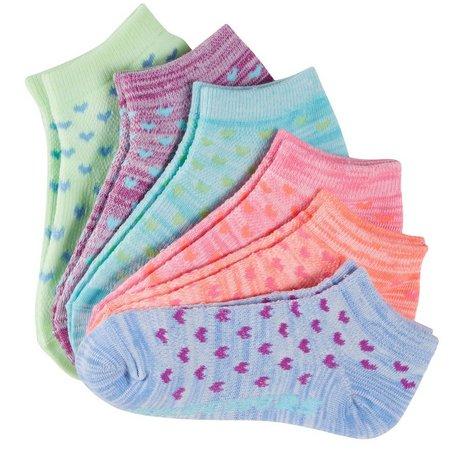 Skechers Big Girls 6-pk. Low Cut Heart Socks