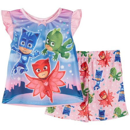 Disney PJ Mask Toddler Girls Pajama Set