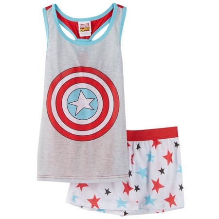 DC Comics Captain America Big Girls Pajama Set