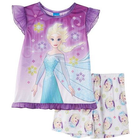 Disney Frozen Big Girls Snowflake Pajama Set