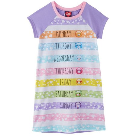 New! Care Bears Little Girls Days of the