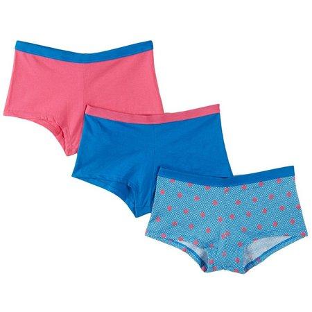 Hanes Big Girls 3-pk. Boy Shorts Panties