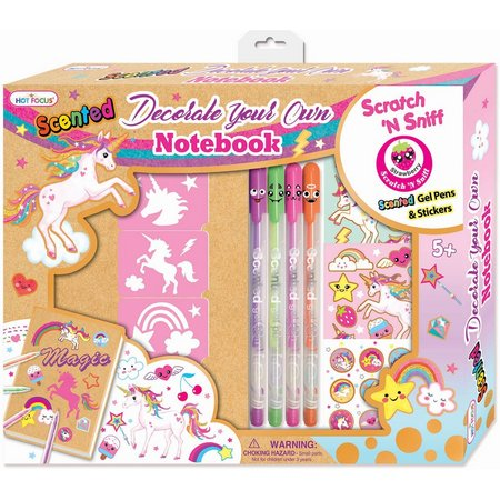 Hot Focus Unicorn Decorate Your Own Notebook Set
