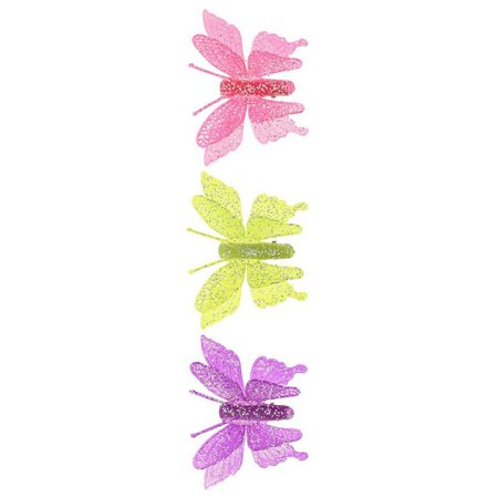 Capelli Girls 3-pk. Glitter Butterfly Clips