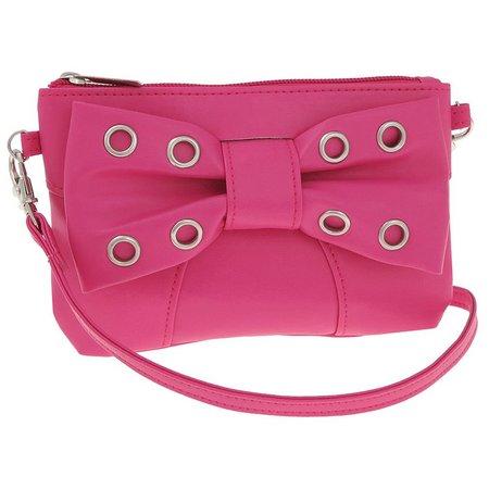 Capelli Girls Grommet Bow Shoulder Bag