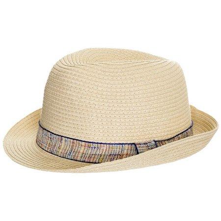 Capelli Girls Paper Braid Trim Hat