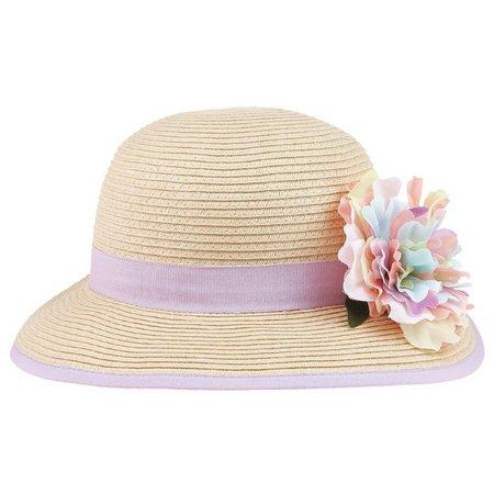 Capelli Girls Floral Floppy Hat