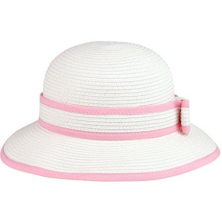 Capelli Girls Bow Trim Short Brim Hat