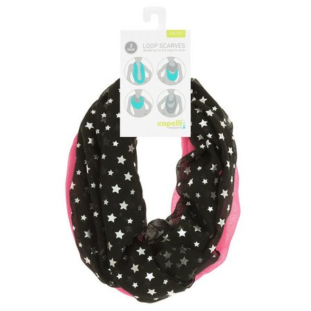Capelli Girls 2-pk. Star Loop Scarves