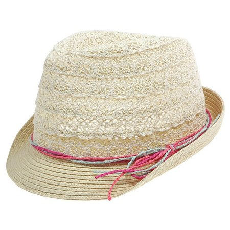 New! Capelli Girls Crochet Trim Hat