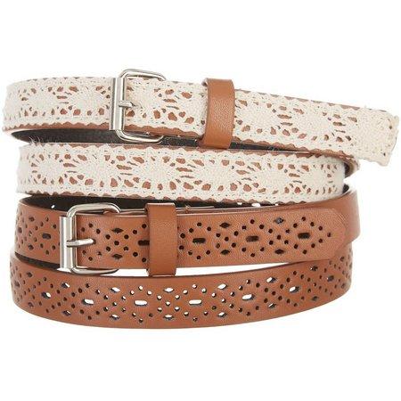 Amici Girls 2-pk. Crochet Belts