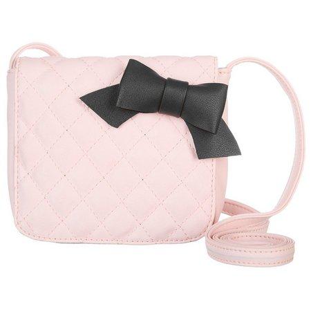 Yoki Girls Quilted Bow Crossbody Handbag