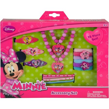 Disney Minnie Mouse Girls 15-pc. Accessory Set