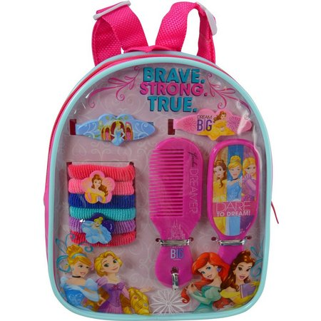 Disney Princess Girls Hair Accessory Backpack Set