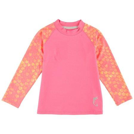 Reel Legends Toddler Girls Pink Tales Rashguard