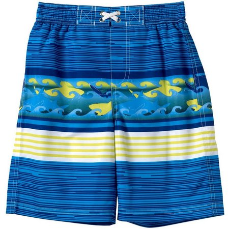 IXTREME Toddler Boys Wave Swim Trunks