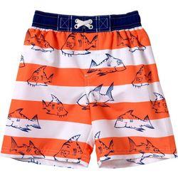 Wippette Kids Toddler Boys Stripe Swim Trunks