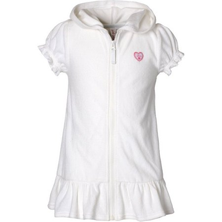 Pink Platinum Toddler Girls Hooded Cover Up