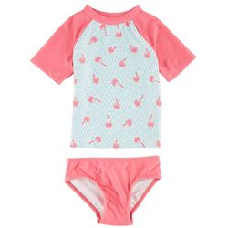 Floatimini Toddler Girls Rashguard Swim Set