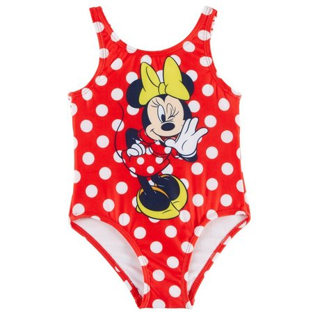 Disney Minnie Mouse Toddler Girls Dots Swimsuit