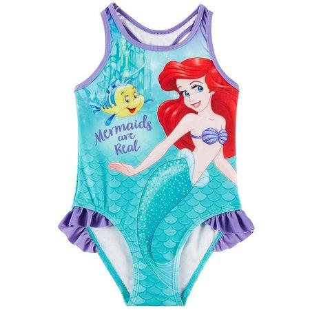 Disney The Little Mermaid Toddler Girls Racerback Swimsuit