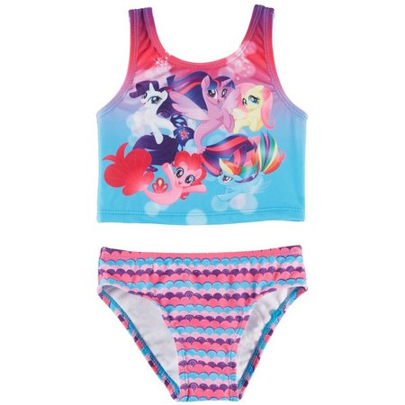 My Little Pony Toddler Girls Strappy Tankini Swimsuit