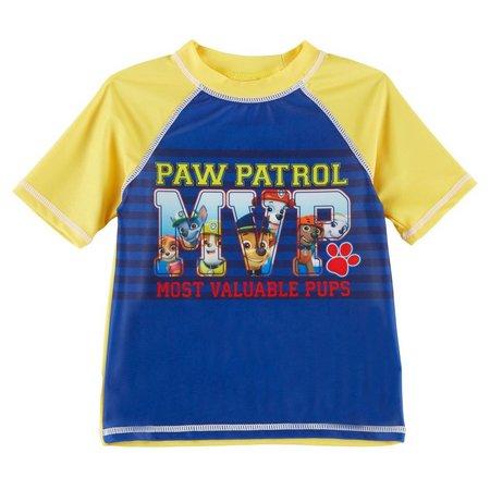 Nickelodeon Paw Patrol Toddler Boys MVP Rashguard