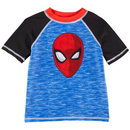 Marvel Spider Man Toddler Boys Raglan Rashguard
