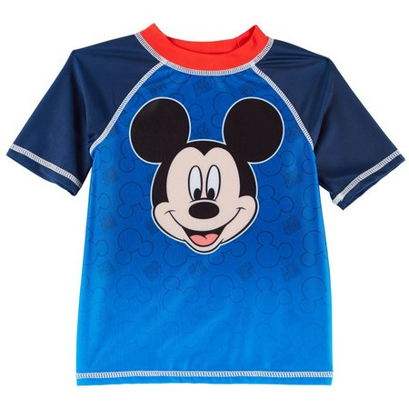 Disney Mickey Mouse Toddler Boys Raglan Rashguard