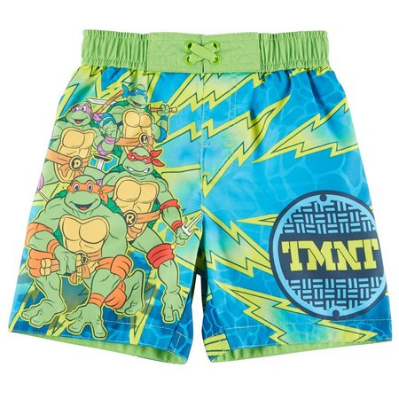 Ninja Turtles Toddler Boys Lightning Swim Trunks