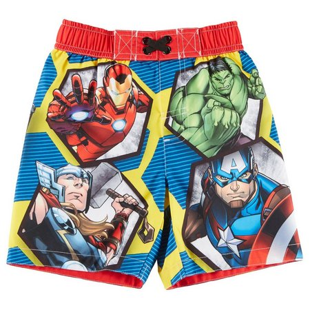 Marvel Avengers Toddler Boys Team Swim Trunks