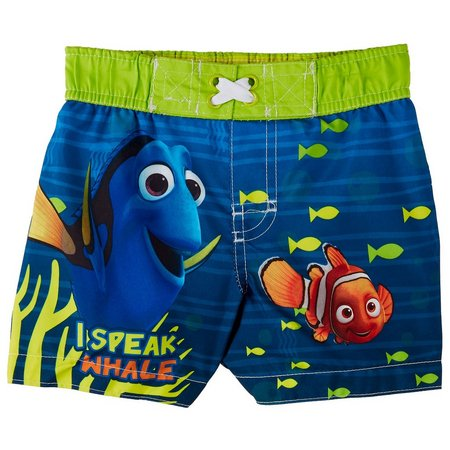Disney Finding Dory Baby Boys Whale Swim Trunks