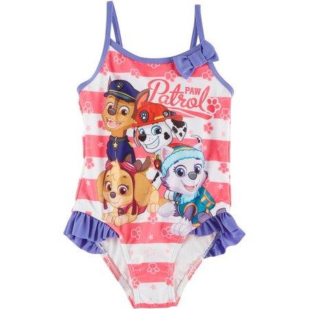 Nickelodeon Paw Patrol Toddler Girls Bow Swimsuit