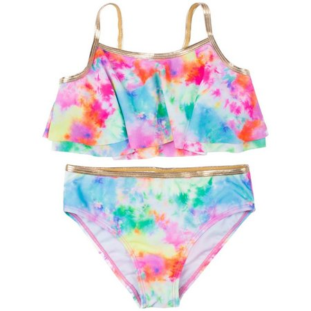 Betsey Johnson Toddler Girls Tie Dye Swimsuit