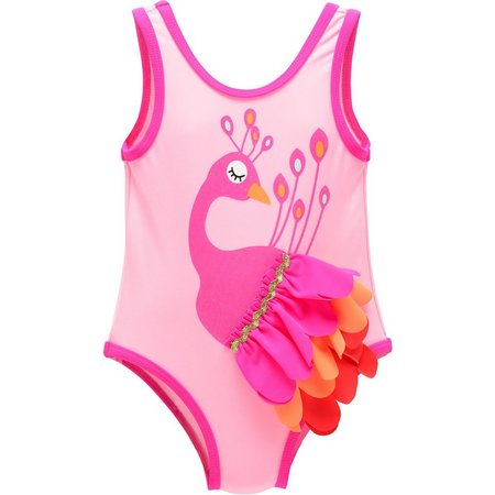 Candlesticks Baby Girls Peacock Swimsuit