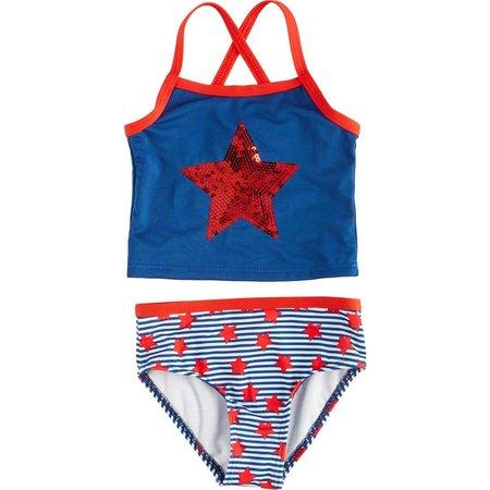 Penny M Toddler Girls Stars & Stripes Swimsuit
