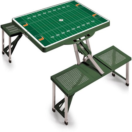 Miami Hurricanes Field Picnic Table by Picnic Time