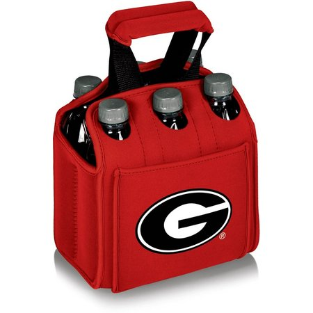 Georgia Bulldogs Six Pack Carrier by Picnic Time