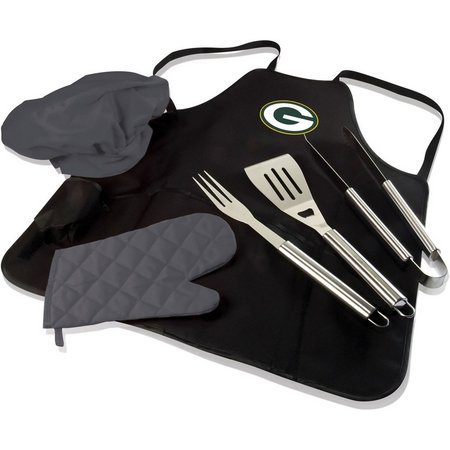 Green Bay Packer BBQ Apron Tote Pro by