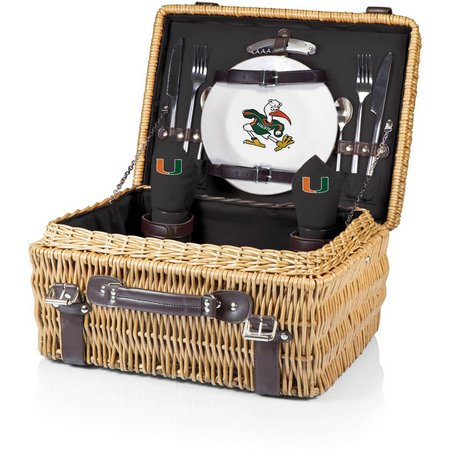 Miami Hurricanes Picnic Basket by Picnic Time