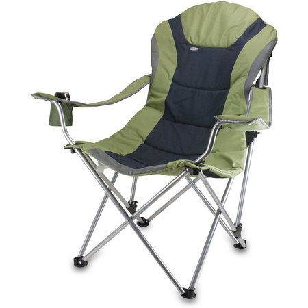 Picnic Time Sage Green Reclining Camping Chair