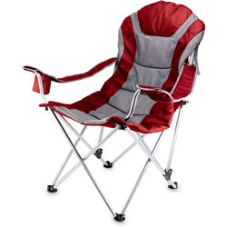 Picnic Time Red Reclining Camping Chair