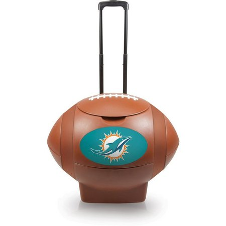 Miami Dolphins Rolling Football Cooler
