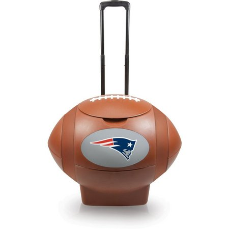 New England Patriots Rolling Football Cooler