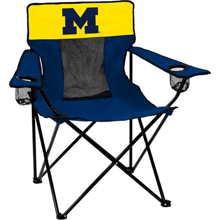 Michigan Wolverines Elite Chair by Logo Brands