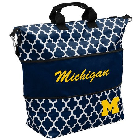 Michigan Quatrefoil Expandable Tote by Logo Brands