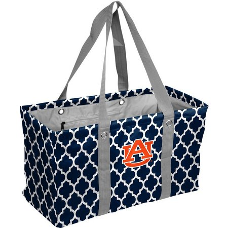 Auburn Quatrefoil Picnic Caddy Tote by Logo Brands